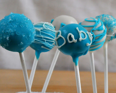 woman asked me to make cake pops for a baby shower for twin baby