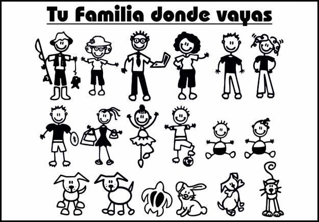 Calcomanias familia para autos - Imagui