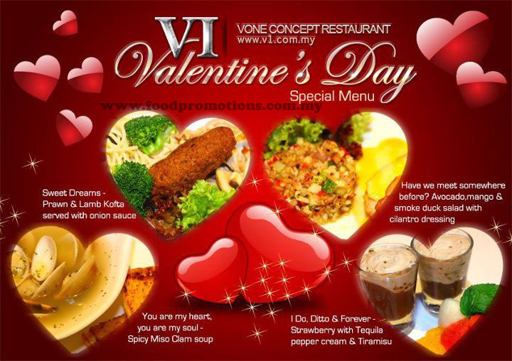 Food Street V1 Concept Bar Restaurant Valentine S Day Special Menu
