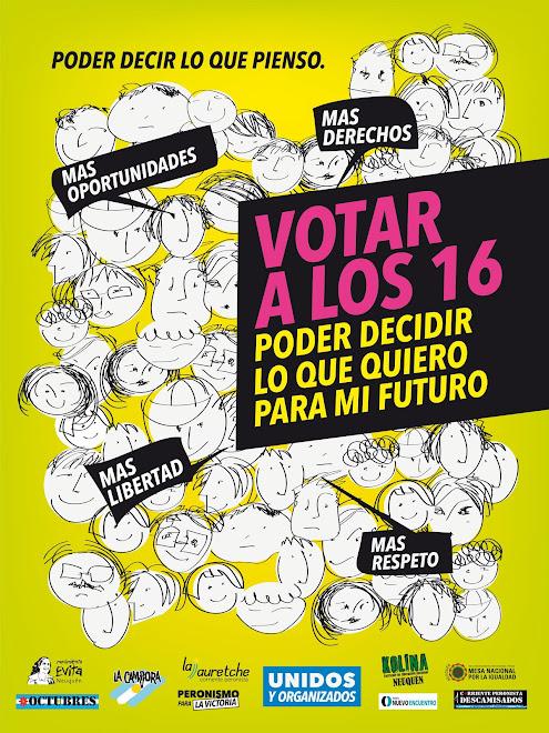 afiche via publica voto a los 16