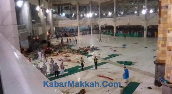tiang masjidil haram roboh