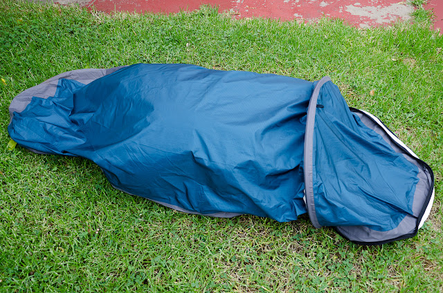outdoor research alpine bivy with beanbag inside