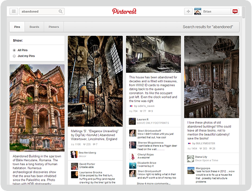 Pinterest Screen 1