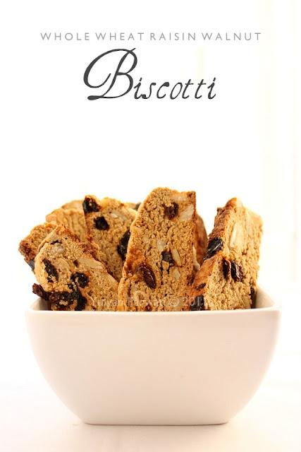 Whole Wheat Raisin Walnut Biscotti
