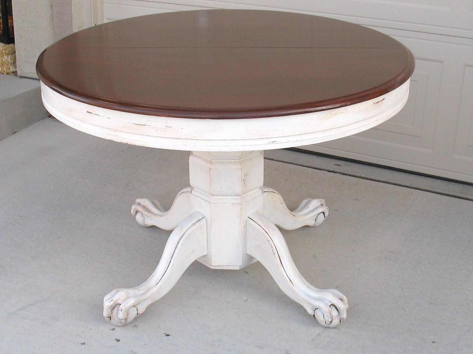 Shabby redo for you claw foot oak table redo - Kitchen table redo ...