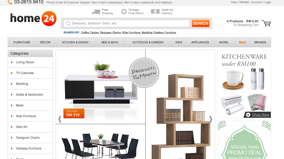 Home24 Malaysias Aspiration Is To Give Malaysia Online Shopping A Different Feel With The Focus On Furniture Homeware And Deco User Friendly Website