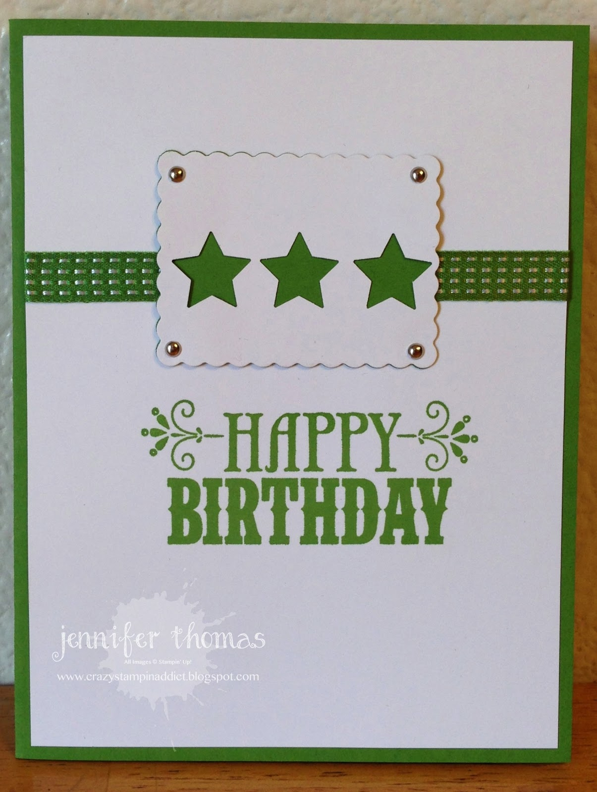crazystampinaddict simple manly birthday card, Birthday card