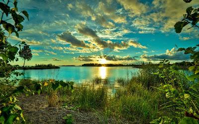 Hermosos paisajes de puestas de sol
