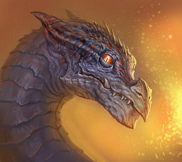 Andrew Olson ilustrações digitais fantasia arte conceitual Dragão