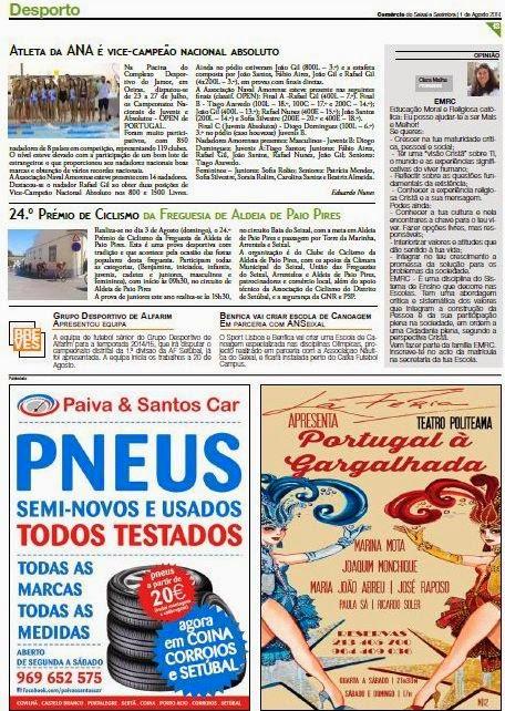 COMÉRCIO do SEIXAL e SESIMBRA EDIÇÃO nº263 de 31-07-2014