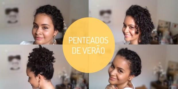 Penteados para cabelos cacheados no verão - Blog Manual dos Cachos