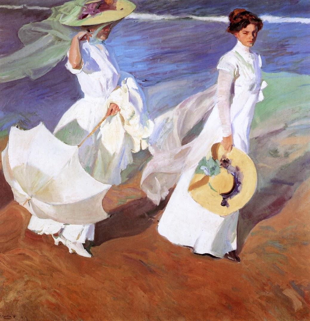 Paseo a orillas del mar o Paseo por la playa (Joaquín Sorolla, 1909)
