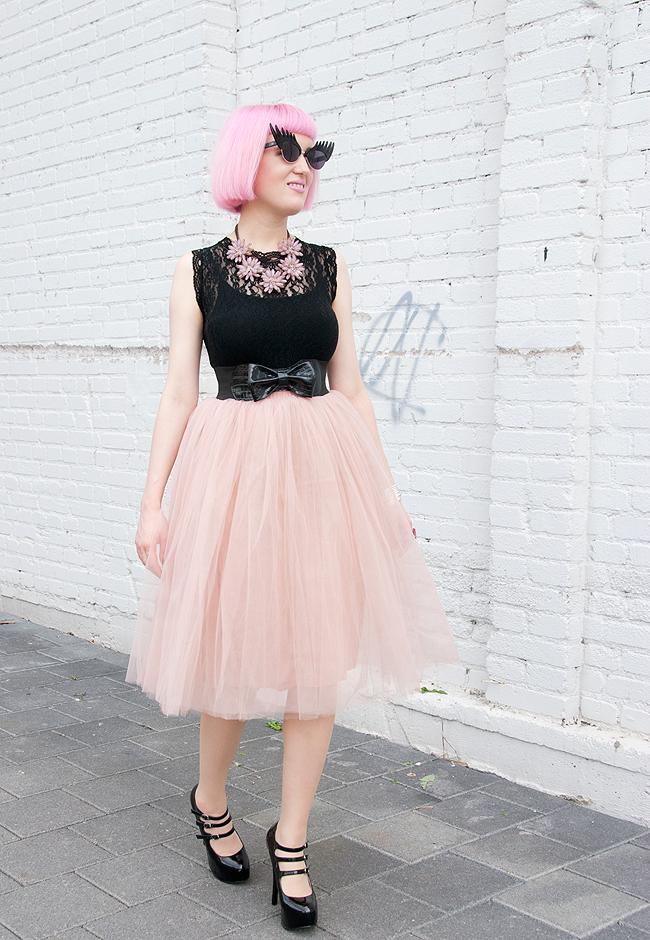 Rare London, tulle skirt, pink tutu skirt