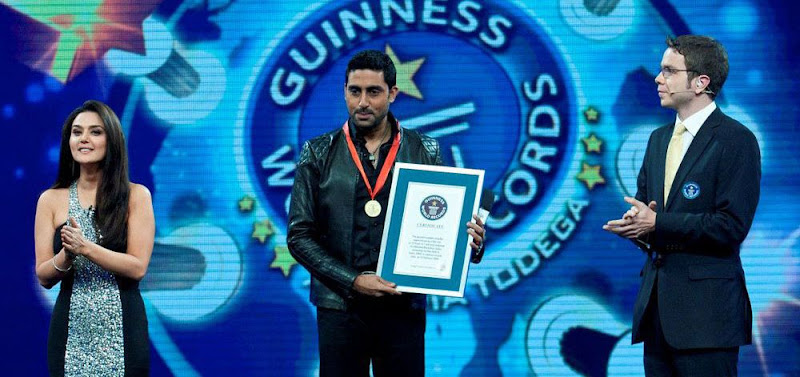 Abhishek Bachchan At Guinness World Records Latest PicsPhotos release images
