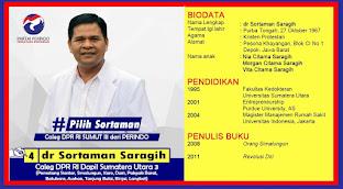 Dr Sortaman Saragih SH MARS Menuju Senayan