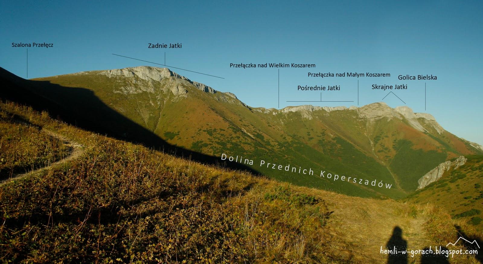 Panorama z Przełęczy pod Kopą