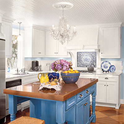 Decor me happy by elle uy kitchendelier for French blue kitchen ideas