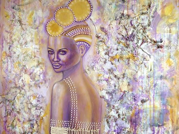 Ascension, Mixed Media on Canvas, by Sabrina Brett 3