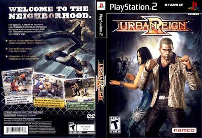 Jogo Urban Reign PS2 DVD Capa