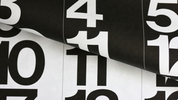 Stending calendar design Massimo Vignelli