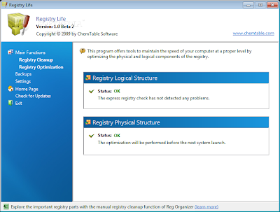 Free Microsoft Windows Registry Cleaner & Optimization