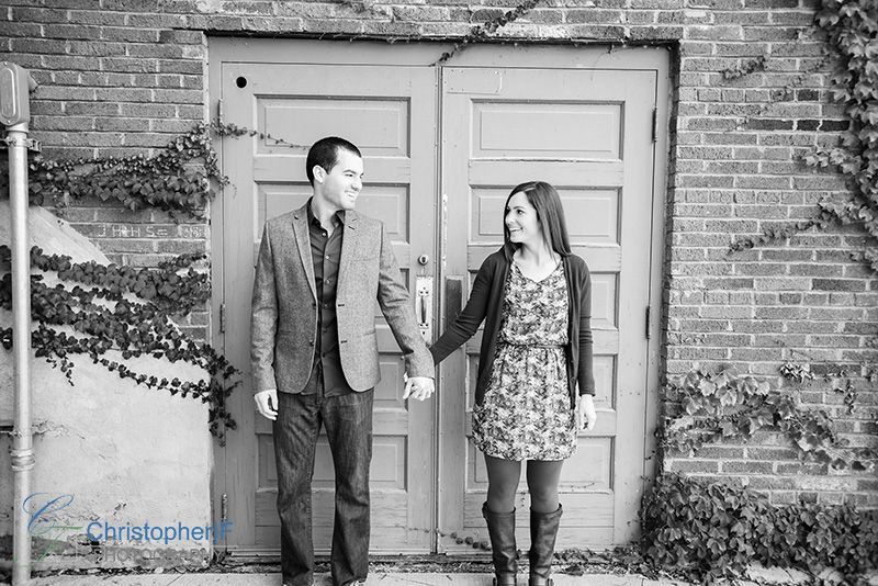 Cafe Brauer Engagement Photo