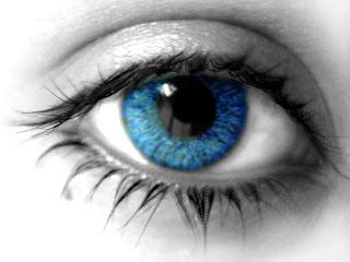 trocar cor dos olhos por azul