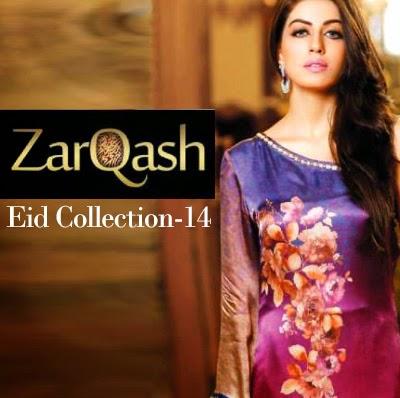 Zarqash Eid Collection 2014 | Luxury Silk Dresses by Areeba Naeem