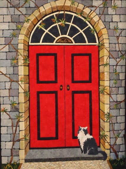 Cheeky Cognoscenti: Quilted Doors: Four of my Favorites from Four Different Artists