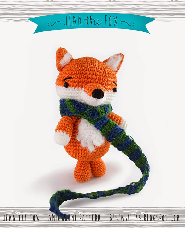 Jean the fox - amigurumi pattern - besenseless by airali
