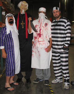 GotPrint costumes halloween 2011 prisoner, arab, priest and butcher