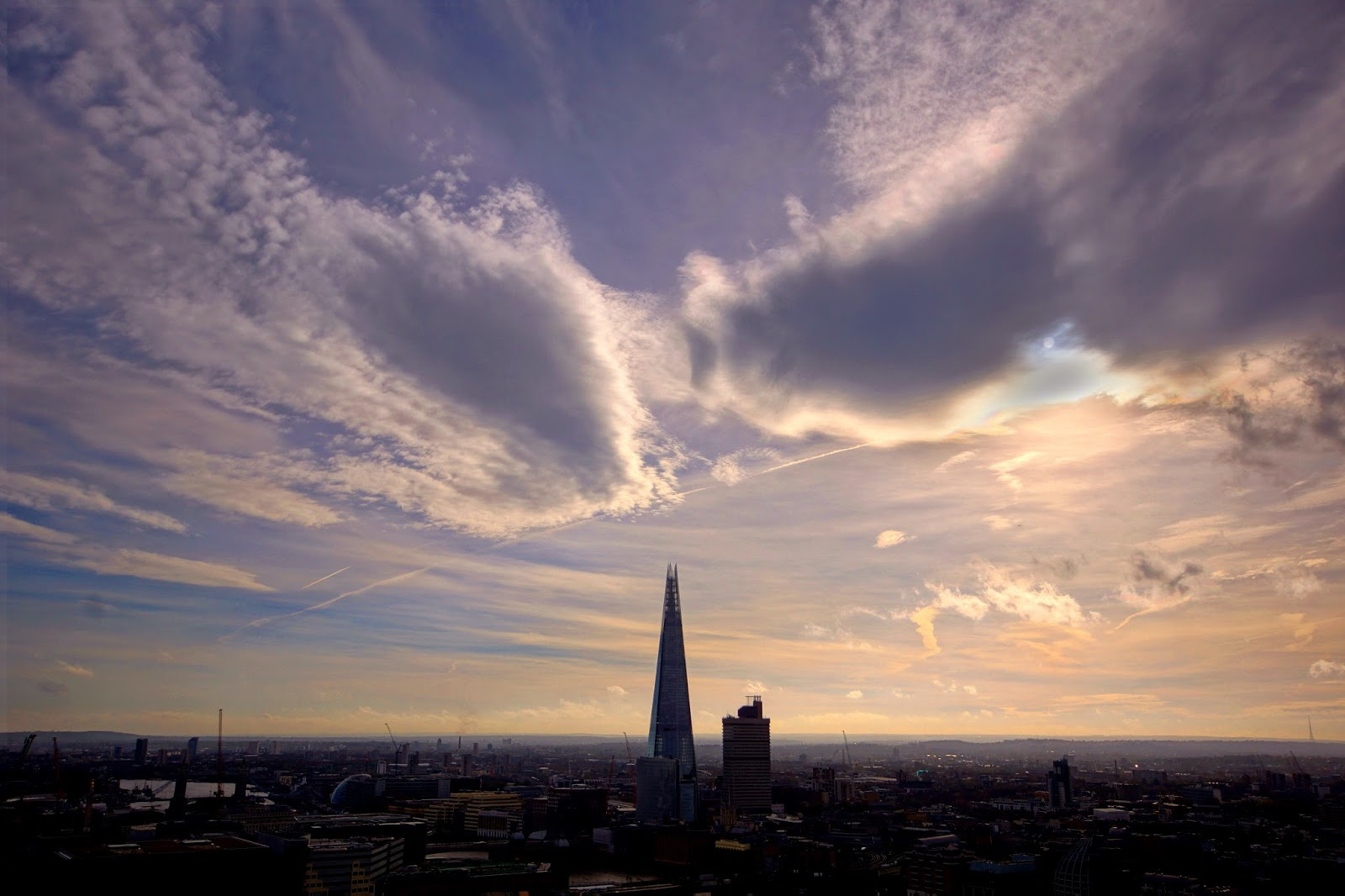 London, st pauls, silhouette, clouds, sky, the shard, cityscape, landscape, photo