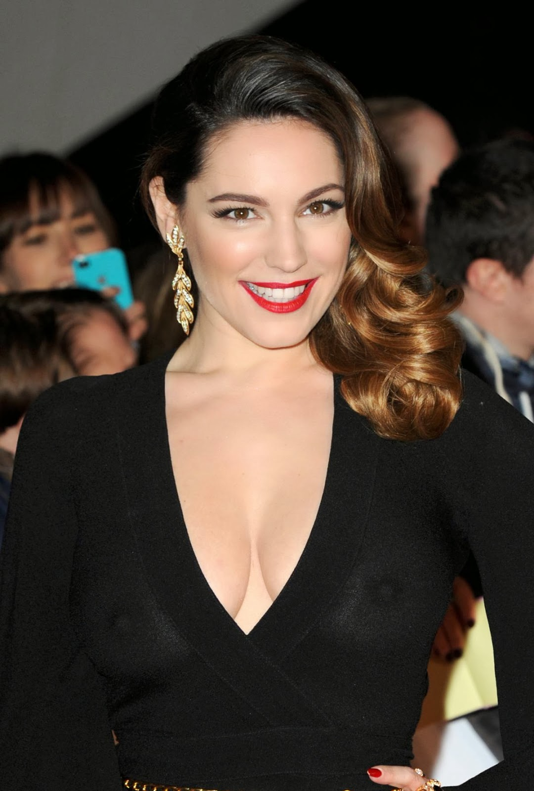 Kelly Brook at National Television Awards in London