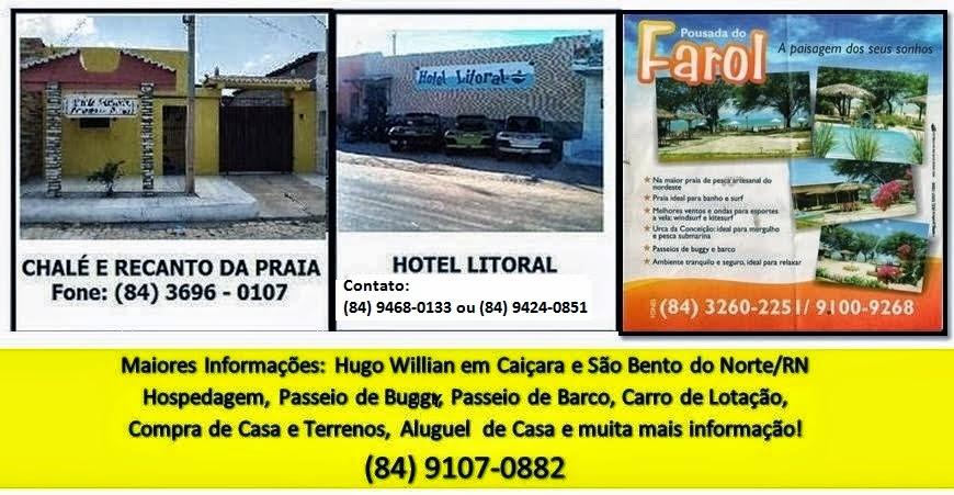 CLICK NAS POUSADAS PARA CONHECER UM POUCO DE CAIÇARA DO NORTE/RN