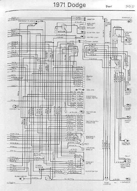 Interior Electrical Wiring Diagrams Of 1971 Dodge Dart