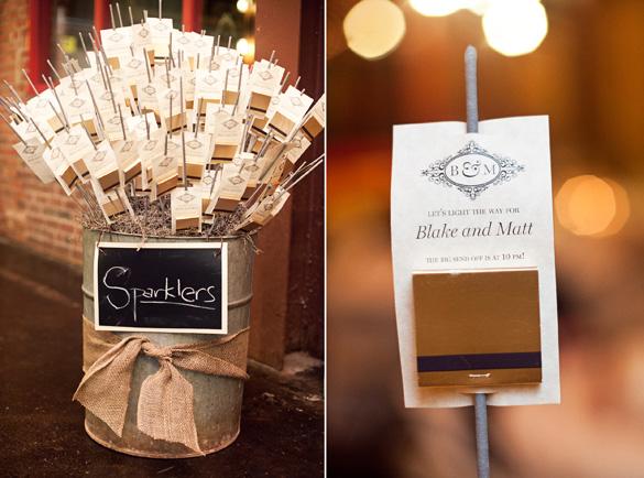 { Ask Cynthia }: Wedding Inspirations | Sparkler Send-Off