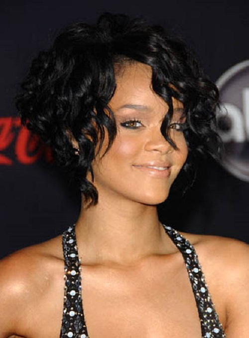 Rihanna African American Curly Hairstyles
