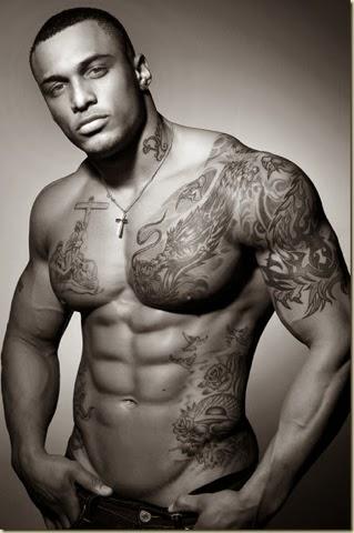 Perfect full tattooed body