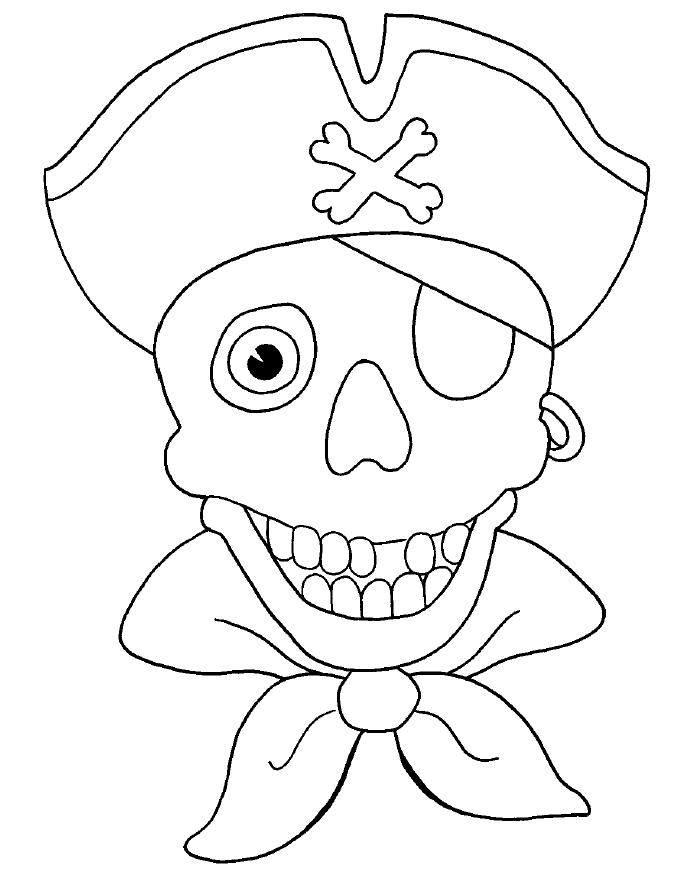 Pirata para colorear dibujos infantiles imagenes cristianas - Imagenes de piratas infantiles ...
