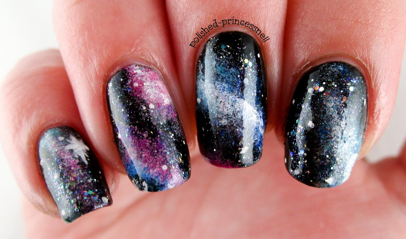 Polished Princessnell: Galaxy Nail Art