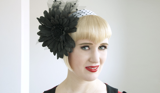 hat, fascinator, headband, flower