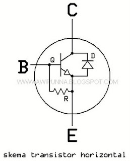 skema internal transistor horisontal