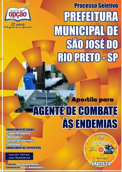 Apostila Agente Prefeitura Municipal de São José do Rio Preto - Processo Seletivo - 2014