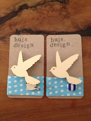 Huis Design Timber Bird Brooch
