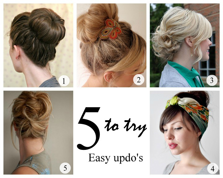 5 To Try Easy Updo Hairstyles Makeup And Macaroons