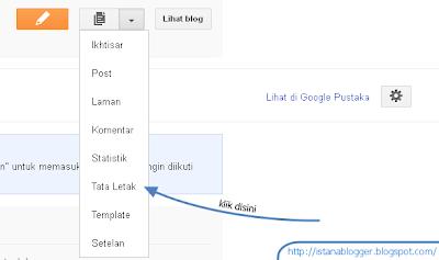 contoh dari tampilan menu tata letak - cara menambah widget