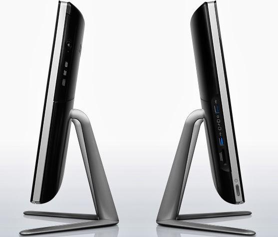 левая и правая сторона моноблока Lenovo IdeaCentre C540 Touch