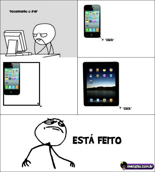 ipad [Humor] Como foi feito o design do iPad