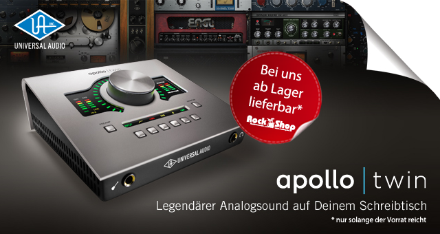 Rock Shop Musikinstrumente Karlsruhe Universal Audio Apollo Twin Recording Interface