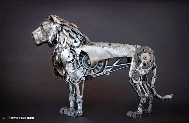 26-Lion-Andrew-Chase-Recycle-Fully-Articulated-Mechanical-Animal-www-designstack-co